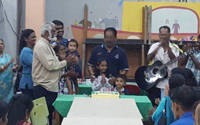 SUPPORTER CELEBRATES HIS BIRTHDAY WITH THE CHILDREN